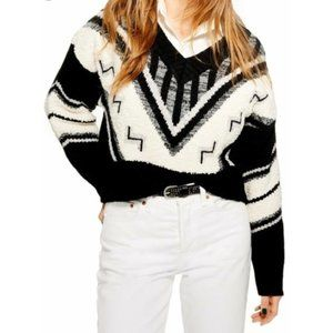 Topshop Aztec Rock N Roll Sweater NWT